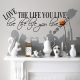 LOVE lipdukas ant sienos
