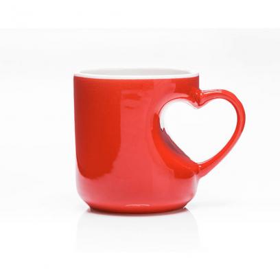 """Raudonas puodelis """"Širdelė"""""""