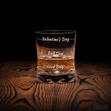 """Viskio taurė """"Who cares"""" Valentino dienai"""