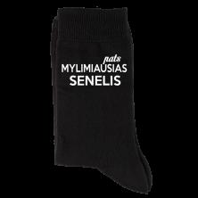 """Kojinės """"pats mylimiausias SENELIS"""""""