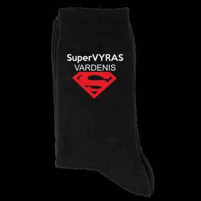 """Vardinės kojinės """"Super Vyras"""""""