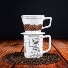 Kavos lašintuvas ir puodelis - Coffeemageddon