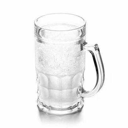 Ledinis alaus bokalas su atidarytuvu