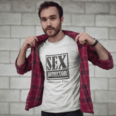 """Marškinėliai """"Sex instructor"""""""