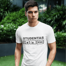 """Marškinėliai """"Tikras studentas"""""""