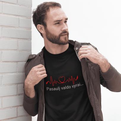 """Marškinėliai """"Pasaulį valdo vyrai"""""""