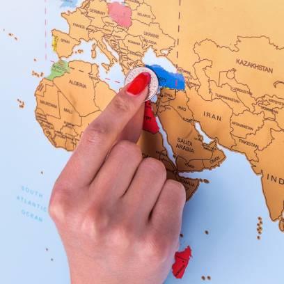 Keliautojo žemėlapis - nutrink aplankytas vietas